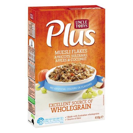 PLUS MUESLI FLAKES BREAKFAST CEREAL 410GM