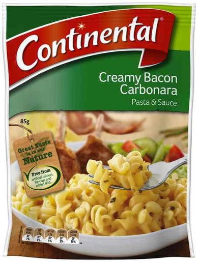 CREAMY BACON CARBONARA PASTA & SAUCE 85GM
