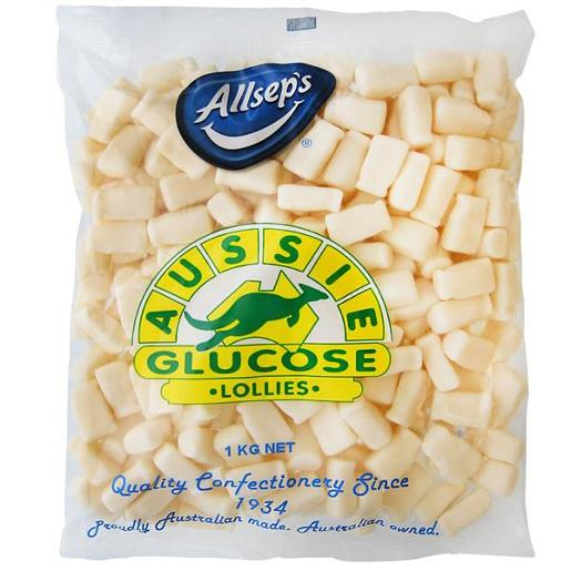 AUSSIE GLUCOSE BAG-A-LOLLIES MILK BOTTLE 1KG