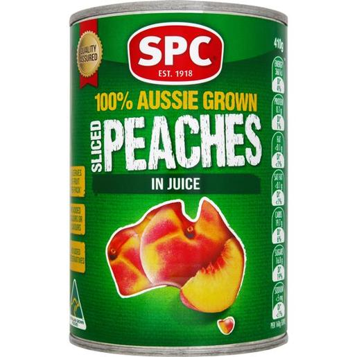 SLICED PEACHES IN JUICE 410GM