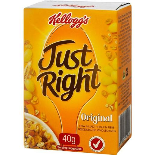JUST RIGHT ORIGINAL INDIVIDUAL PORTIONS 40GM