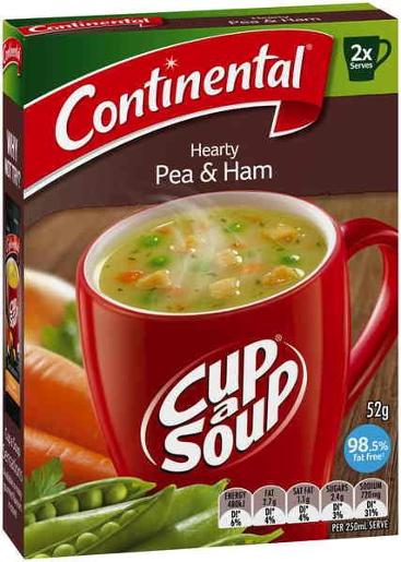 HEARTY PEA & HAM CUP-A-SOUP 2 SERVES 52GM