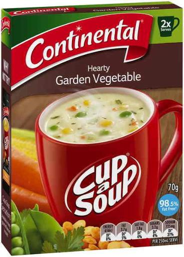 HEARTY GARDEN VEGETABLE CUP-A-SOUP  2 SERVES 70GM