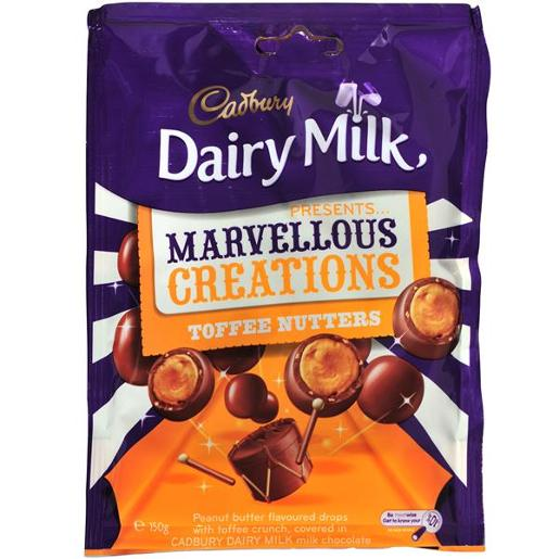 MARVELLOUS CREATIONS TOFFEE NUTTERS 150GM