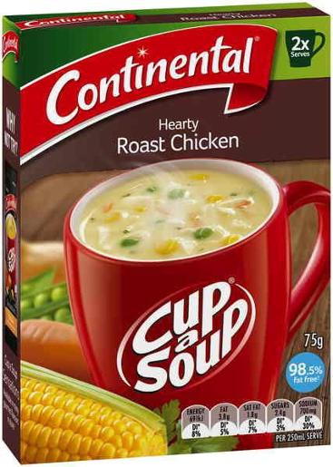 ... Packed Food > Soups > HEARTY ROAST CHICKEN CUP-A-SOUP 2 SERVES 75GM