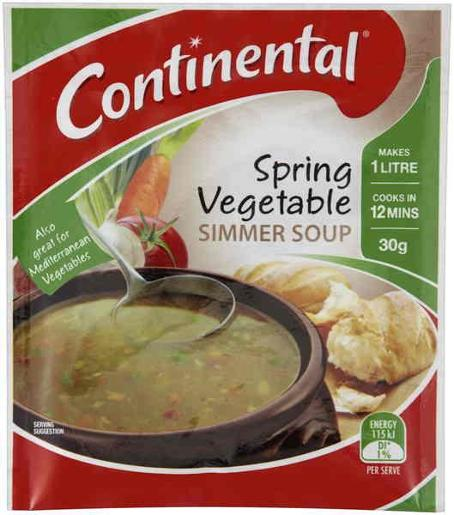 CUP-A-SOUP SPRING VEGETABLE 30GM