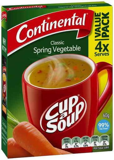 SPRING VEGETABLE CUP-A-SOUP 4 SERVES 60GM