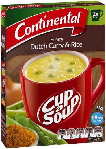 HEARTY DUTCH CURRY CUP-A-SOUP 2 SERVES 2PK