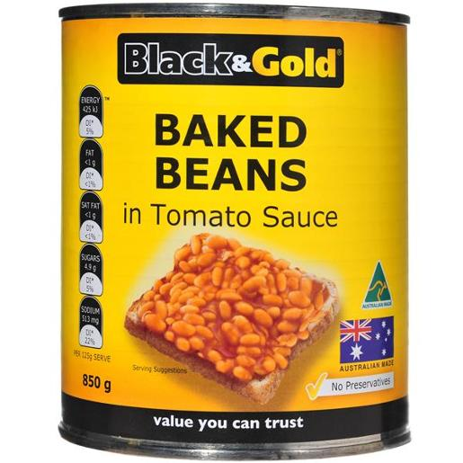 BAKED BEANS IN TOMATO SAUCE 850GM
