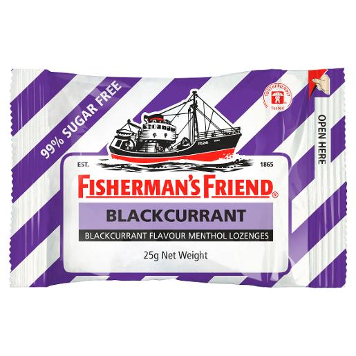 BLACKCURRENT SUGAR FREE LOZENGES 25GM