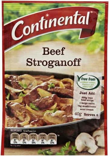 BEEF STROGANOFF RECIPE BASE 40GM