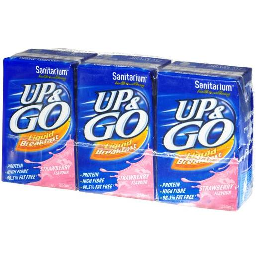 STRAWBERRY UP&GO LIQUID BREAKFAST 250ML