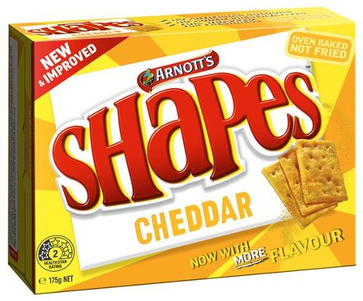 SHAPES SNACKS CHEDDAR 175GM