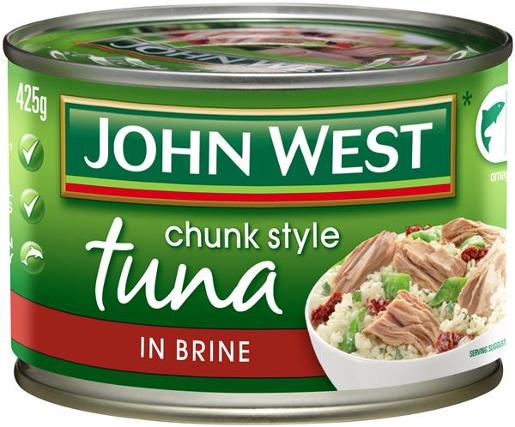 TUNA TEMPTERS IN BRINE 425GM