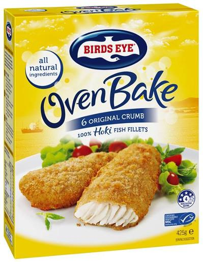 OVEN BAKE ORIGINAL CRUMBED FISH FILLET 425GM