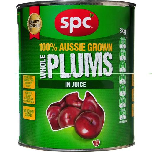 DARK WHOLE PLUMS IN NATURAL JUICE 3KG