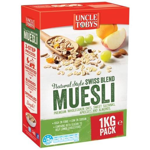 NATURAL SWISS STYLE MUESLI BREAKFAST CEREAL
