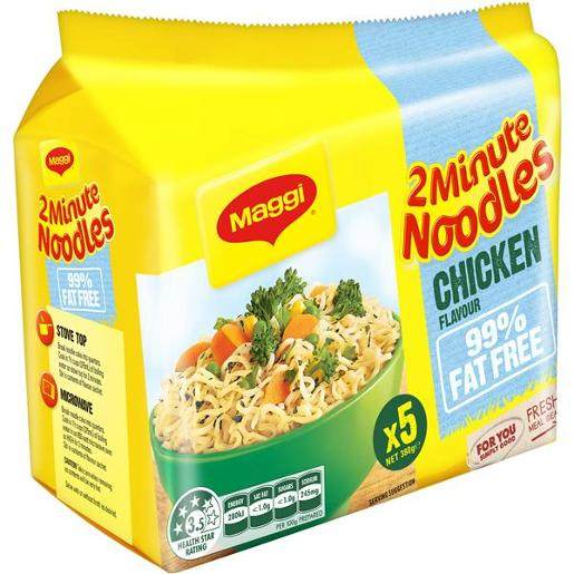 99% FAT FREE CHICKEN 2 MINTUE NOODLES 5 PACK 76GM