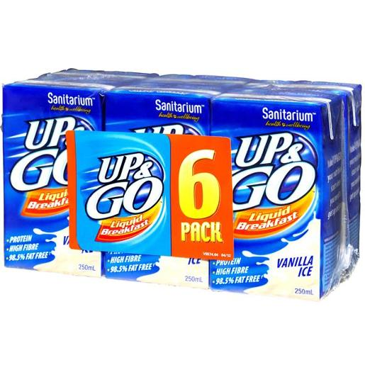 VANILLA ICE UP&GO LIQUID BREAKFAST 6X250ML