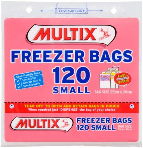 TEAROFF SMALL FREEZER BAGS 120S