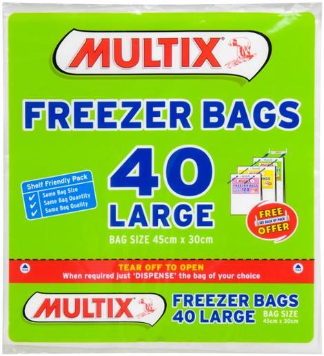 TEAROFF LARGE FREEZER BAGS 40S