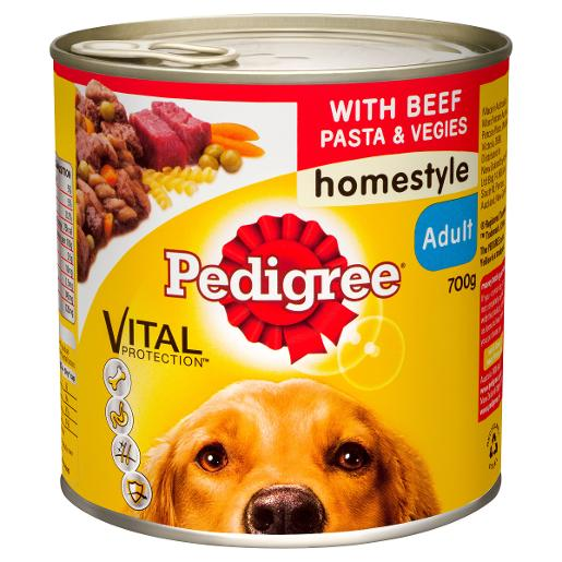 DOG FOOD BF/PAS/VEG 700GM