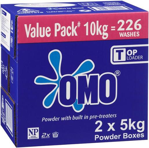 2X TOP LOADER LAUNDRY POWDER 10KG
