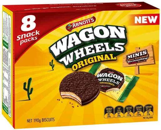 BISCUITS WAGON WHEEL MULTIPACK 190GM