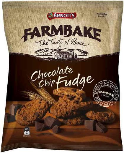 FARMBAKE COOKIES CHOCOLATE CHIP FUDGE 350GM