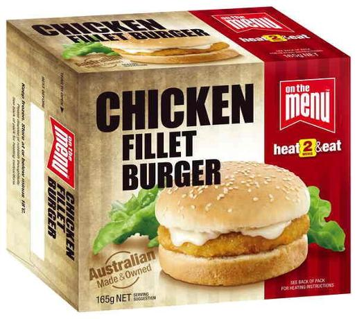 CHICKEN FILLET BURGER 165GM