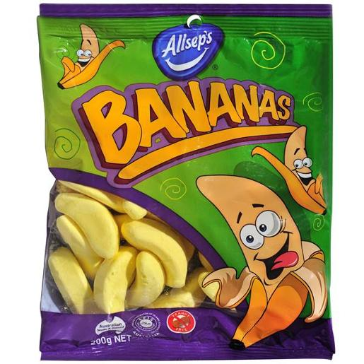 BANANA LOLLIES 200GM