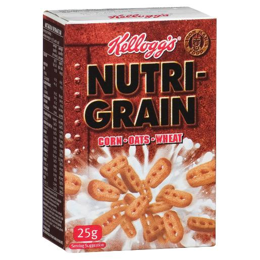 NUTRI-GRAIN INDIVIDUAL PORTIONS 25GM