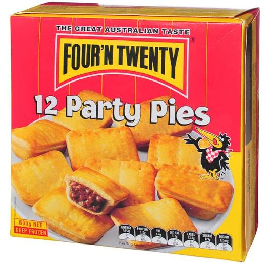 PARTY PIES 12 PACK 600GM