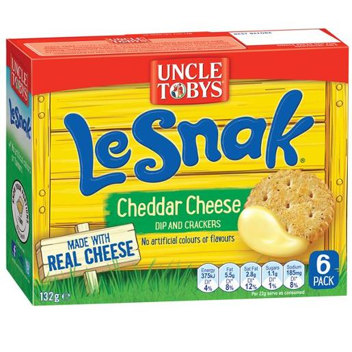 LE SNAK CHEDDAR CHEESE BISCUITS 132GM