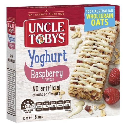 YOGURT TOPS RASPBERRY MUESLI BAR 185GM
