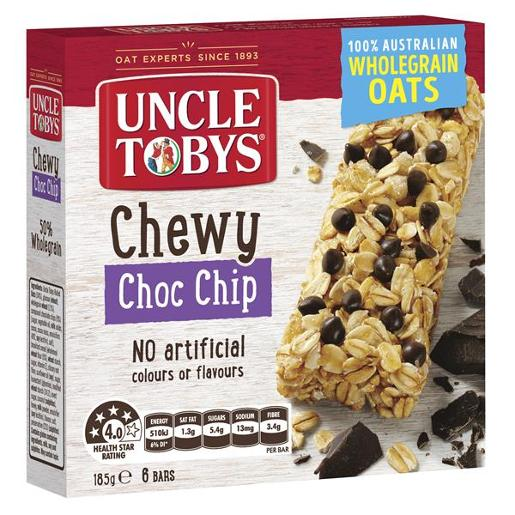 CHEWY CHOCOLATE CHIP MUESLI BAR 185GM