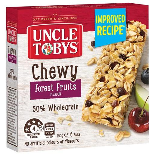 FOREST FRUITS MUESLI BAR CHEWY 185GM