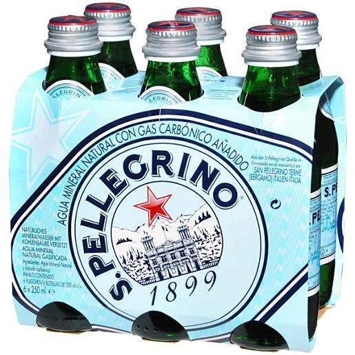 PELLEGRINO SPARKLING NATURAL MINERAL WATER 250ML