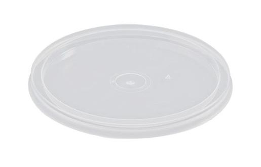 ROUND PLASTIC CUP LID 4OZ 100S