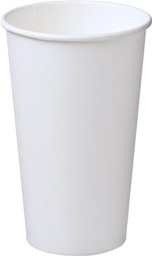 SINGLE WALL WHITE PAPER CUP 460ML 25S