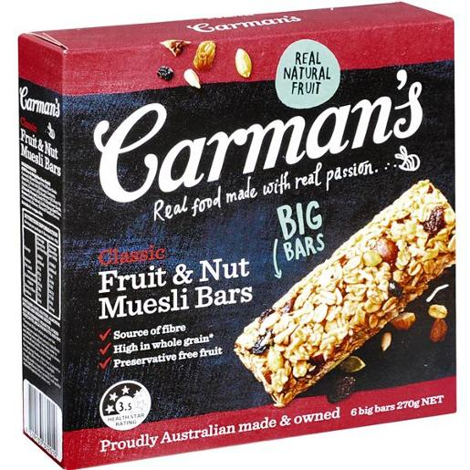 MUESLI BARS CLASSIC 6 PACK 270GM