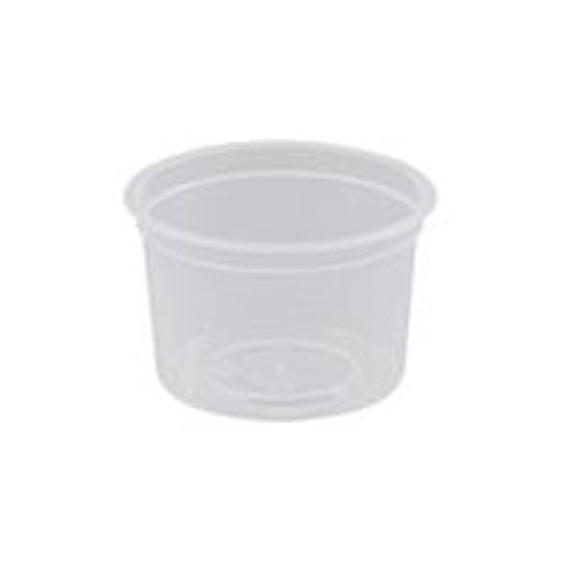 CONTAINER ROUND PLASTIC 4OZ/12ML 50S