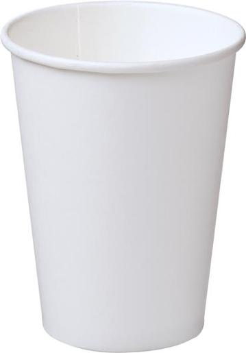 SINGLE WALL WHITE PAPER CUP 355ML 50S