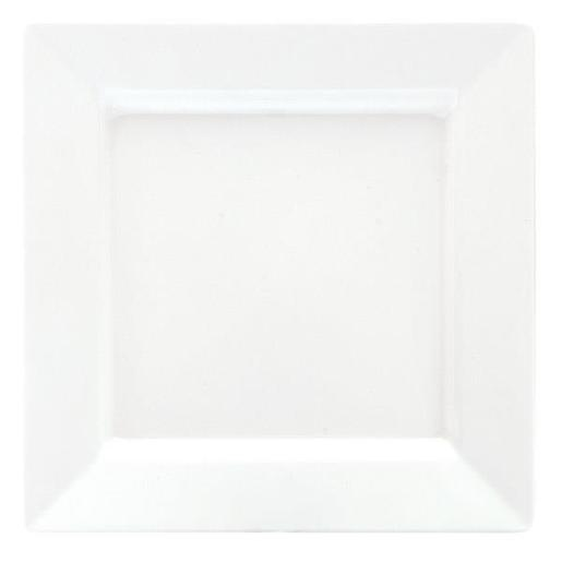 MELAMINE WHITE SQUARE PLATTER 255X255MM 1EA