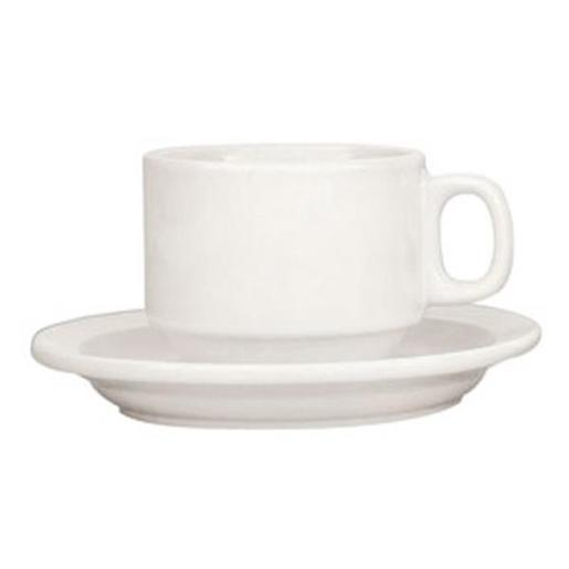STACKABLE WHITE CUP SAUCERS 1EA