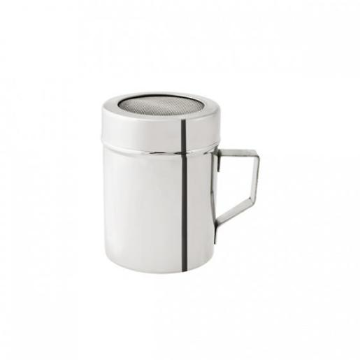 STAINLESS STEEL 18/8 SUGAR SHAKER WITH HANDLE 285ML