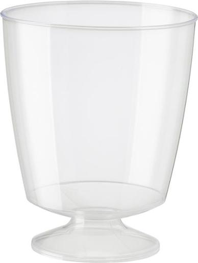 PLASTIC ELEGANCE WINE GLASS 185ML 10S
