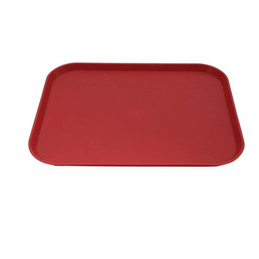 RED PLASTIC TRAY 35 X 45CM