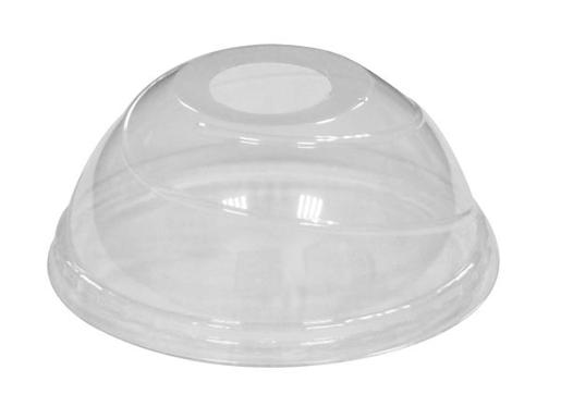 FLAT PET LIDS WITH STRAW HOLE 100S