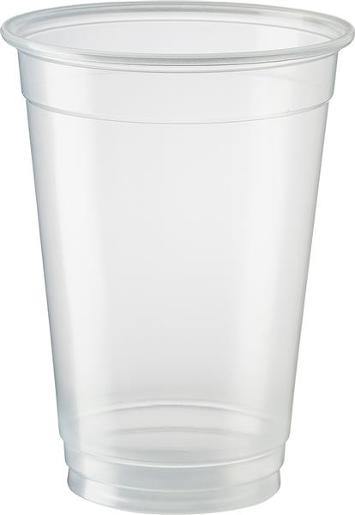 ECO SMART CLEAR PLASTIC BEER CUPS 425ML 50S